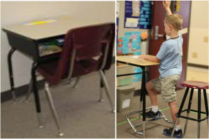 standing biased desk
