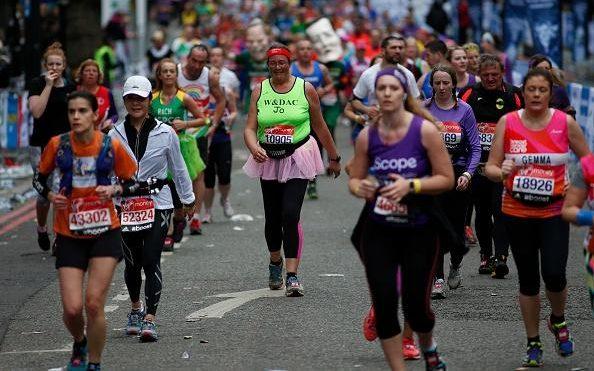 all sorts of marathon runners
