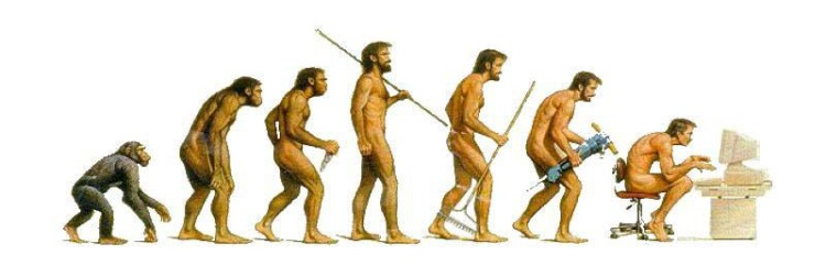 evolution-to-sitting-in-front-of-computer